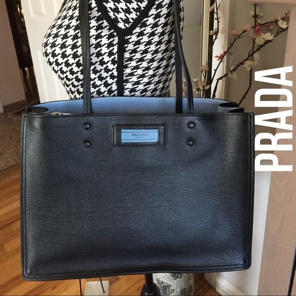 e9422b496813 Prada Glace Calf Etiquette Shopper tote bag